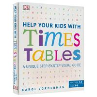 DK Help Your Kids With Times Tables 帮助你的孩子学习乘法 英文原版书工具书 数学科