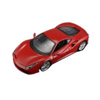 法拉利488 FXXK原厂仿真1:24合金汽车模型摆件赛跑车模型 红色 法拉利488GTB