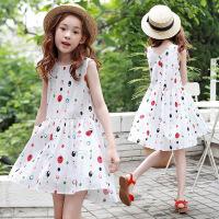 童装夏季女童连衣裙无袖中大童休闲度假裙