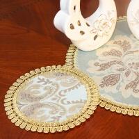 欧式杯垫茶几垫花瓶垫餐桌盘垫碗垫子布艺西餐茶道垫圆形加厚