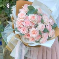 每月每周鲜花配送 厦门 鲜花速递同城七夕情人节玫瑰花束生日礼盒泉州漳州福州送花店 桔红色 33枝荔枝玫瑰
