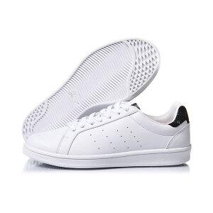 李宁LINING女子小白鞋滑板鞋防滑经典休闲鞋AGCM224-4