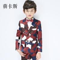 2018春秋新款韩版儿童西装套装花童礼服男孩钢琴演出服