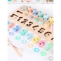 儿童磁性钓鱼套装0两岁小孩2玩具1-3岁宝宝益智男孩智力开发女孩