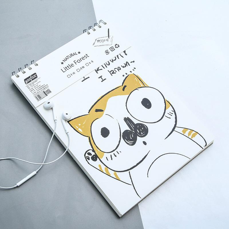 简笔小动物a4素描本 卡通可爱学生绘画素描本涂鸦本速写本 多款可选单