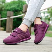 健步鞋女鞋秋季舒适老人鞋软底防滑妈妈鞋中老年轻便休闲运动鞋女