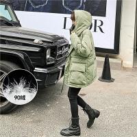 七格格白鸭绒羽绒服女中长款2019新款冬季时尚韩版宽松加厚外套潮