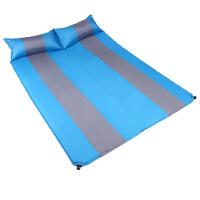 充气垫户外帐篷睡垫拼色印花带枕双人防潮垫露营野营地垫