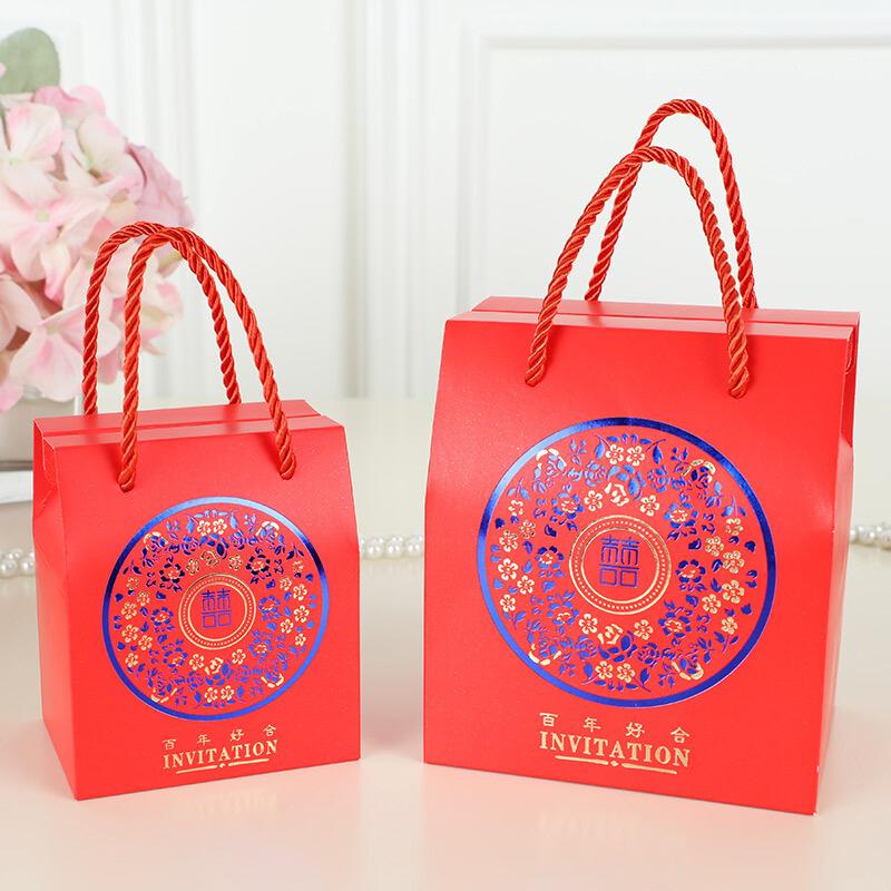 结婚庆用品糖果袋子回礼盒中国风婚礼费列罗创意手提喜糖盒子 发货周期:一般在付款后2-90天左右发货,具体发货时间请以与客服协商的时间为准