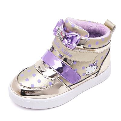 hellokitty童鞋女童运动鞋冬季新款儿童棉鞋加绒大棉保暖全店满99减30 199减70