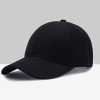 帽子男女学生韩版黑色夏天遮阳棒球帽嘻哈帽潮休闲纯色百搭鸭舌帽 可调节