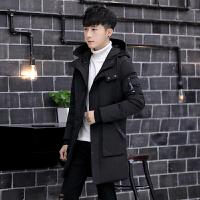 冬季新款中长款男棉衣韩版帅气棉袄潮男款青少年学生男士棉服外套