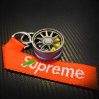 创意个性汽车改装钥匙扣金属轮毂赛车跑车座椅方向盘钥匙链挂件潮