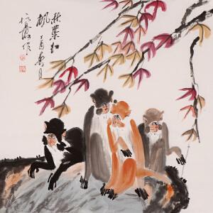 高级画师 徐培晨《秋叶红枫》
