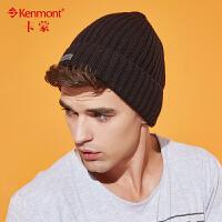 kenmont韩国尖尖帽街头男士冬季帽子保暖针织帽秋冬卷边毛线帽1735