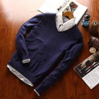 2017新品款针织衫男青年韩版男士毛衫简约纯色v领休闲长袖毛衣