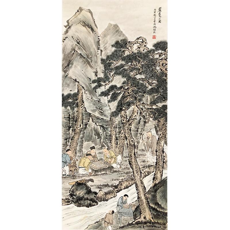 冯超然《高士图》著名画家