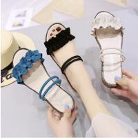 一鞋两穿凉鞋女新款韩版简约沙滩鞋女软妹学生平底百搭凉拖