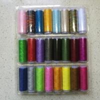 24色缝纫机衣车手缝针线缝补线402涤纶线宝塔缝纫线盒子套装 24色缝纫线盒装