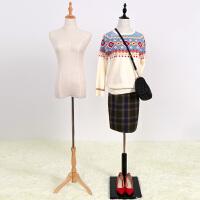 模特道具半身女包棉麻布韩式服装婚纱店展示衣架人台假人摄影特价