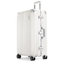 行李箱登机箱铝框万向轮行李防刮密码登机箱子旅行箱拉杆箱男士托运复古密码