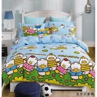 黄色轻松熊懒懒熊儿童床上用品1.2床笠四件套1.5床单被套卡通
