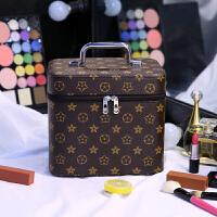 化妆包大容量复古便携护肤洗漱品收纳盒方小号旅行防水化妆箱手提SN8897