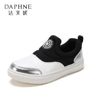 【达芙妮超品日 2件3折】鞋柜新款春季平底一脚蹬休闲运动鞋男童鞋