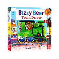 【满300-100】新版 Bizzy Bear Train Driver小熊很忙系列 忙碌的火车司机 英文原版 低幼儿童