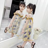 女童连衣裙夏装2020新款韩版超洋气中大儿童女孩夏季网纱公主裙子