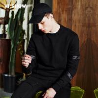 viishow2017潮牌男装卫衣韩版潮学生 青年纯棉套头运动圆领外套男