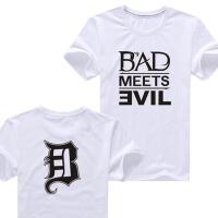 夏季说唱阿姆Eminem BAD 嘻哈Hiphop街舞男士休闲纯棉短袖T恤