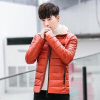 男士棉衣服外套2017新款韩版潮流个性修身帅气百搭袄子冬装皮