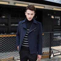 2018秋季新款新款秋冬羊毛呢外套男装青年韩版休闲男士修身夹克呢子短款上衣潮
