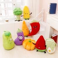创意玉米南瓜抱枕公仔 蔬菜毛绒玩具靠垫玩偶布娃娃万圣节礼物