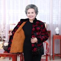 老年人女装棉衣短款冬装妈妈装加厚外套老人奶奶装金丝绒小棉袄