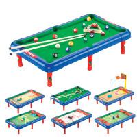 桌面玩具6合1运动玩具六合一保龄球高尔夫足球篮球曲棍球桌3-7岁