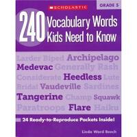 【首页抢券300-100】240 Vocabulary Words Kids Need to Know Grade 5