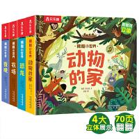 乐乐趣揭秘翻翻书-揭秘小世界第二辑(4册)