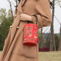 原创复古皮雕手提包 斜挎包女包 孤品手提包