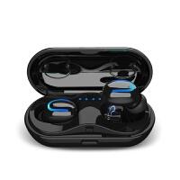 新款无线蓝牙耳机TW双耳通用5.0立体声音乐迷你耳机中英切换 黑色5.0
