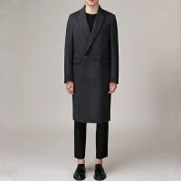 妮子大衣男中长款韩版双面羊绒大衣男款英伦尼子衣男外套冬季保暖