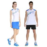 羽毛球服男套装 女款运动服无袖T恤透气 情侣款