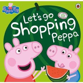 小猪佩奇 粉红猪小妹 英文原版 let's go shopping peppa 和佩奇一起