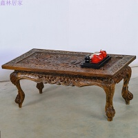 实木客厅茶几 日式小户型咖啡桌 欧式家具中式复古典茶桌 整装