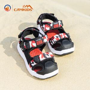 【中秋团圆・满一百减五十】CAMKIDS男童鞋凉鞋2018夏季新款儿童包头沙滩鞋中小童框子鞋