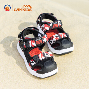 CAMKIDS男童鞋凉鞋2018夏季新款儿童包头沙滩鞋中小童框子鞋
