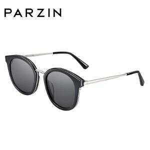 帕森太阳镜 女士板材复古大框尼龙镜片潮墨镜 2018新品7712