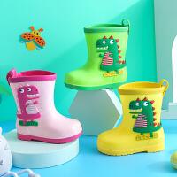 儿童雨鞋男女童雨靴四季通用中筒时尚雨鞋卡通防滑防雨水鞋宝宝潮