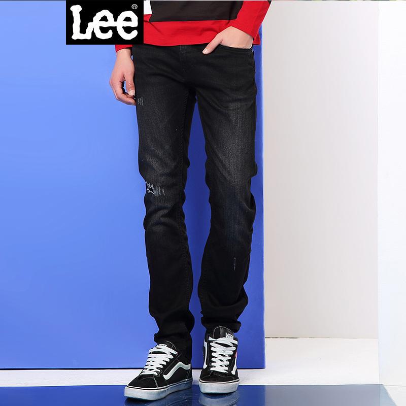 Lee男装 商场同款2017秋冬复古低腰修身牛仔裤男L117092RP4LD